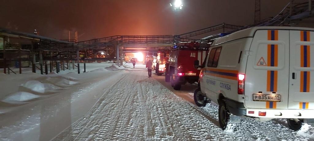 Пожар на Ухтинском НПЗ
