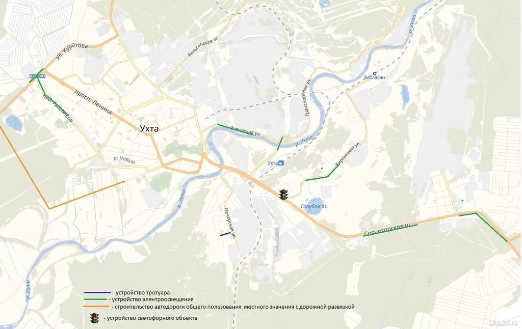Данные обследования интенсивности движения транспортных средств на перекрестках и дорогах Ухты