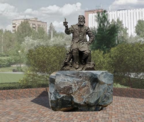 Эскиз памятника нефтепереработчику Ф. С. Прядунову